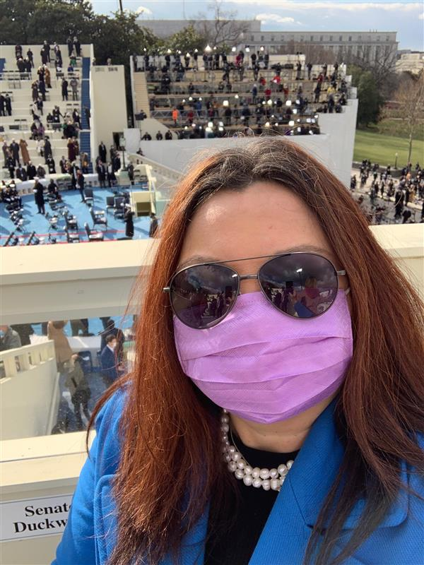 Duckworth Attends Inauguration Ceremony for Joe Biden and Kamala Harris