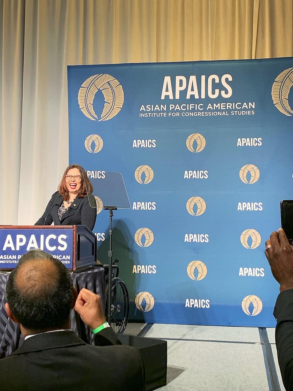 Duckworth Celebrates Asian Pacific American Heritage Month by Keynoting APAICS Gala