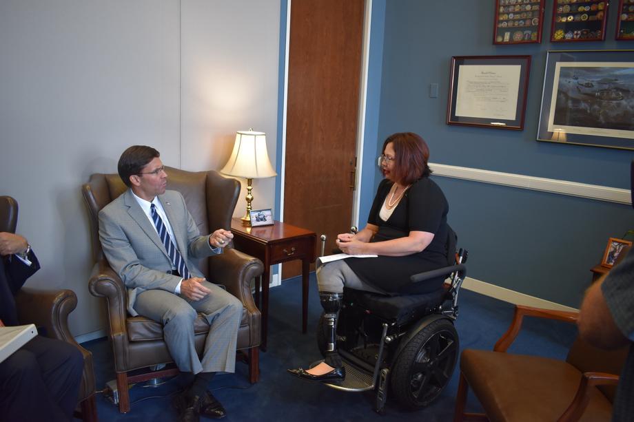 Senator Duckworth Meets with Secretary of Defense Esper