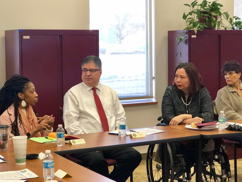 Duckworth began the day with a briefing from community leaders on how to best reach hard-to-count communities to get a whole and accurate 2020 Census count, which will help the state of Illinois get its fair share of federal funding.